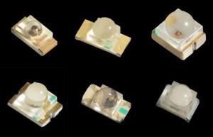 Dome lens SMD-LEDs